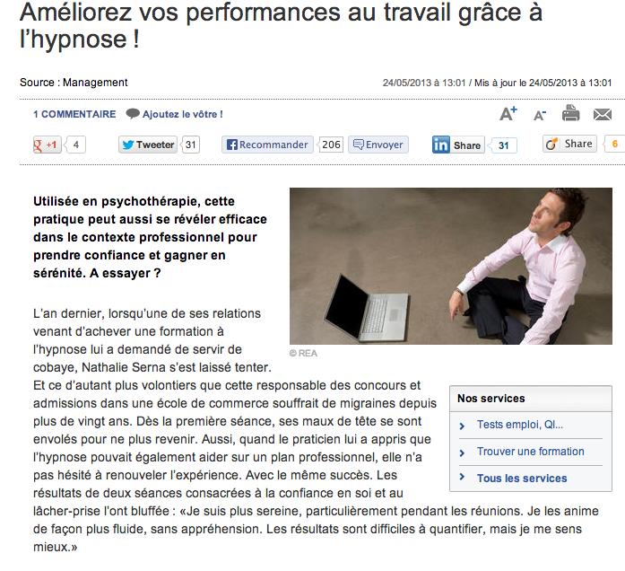Hypnose Yvelines - performances au travail